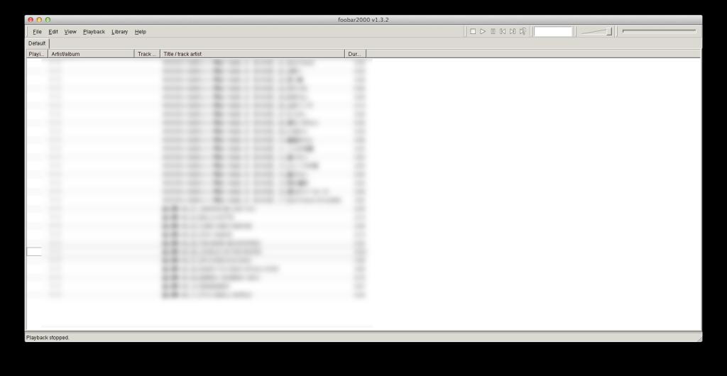 Macでfoobar2000を使う