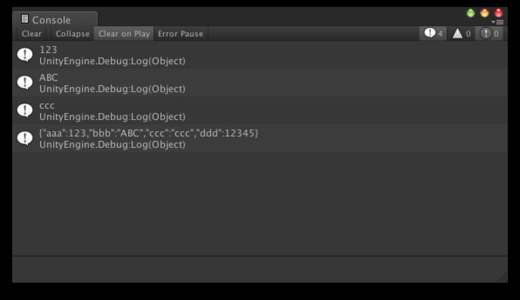 [Unity] JSON形式のテキストを扱う